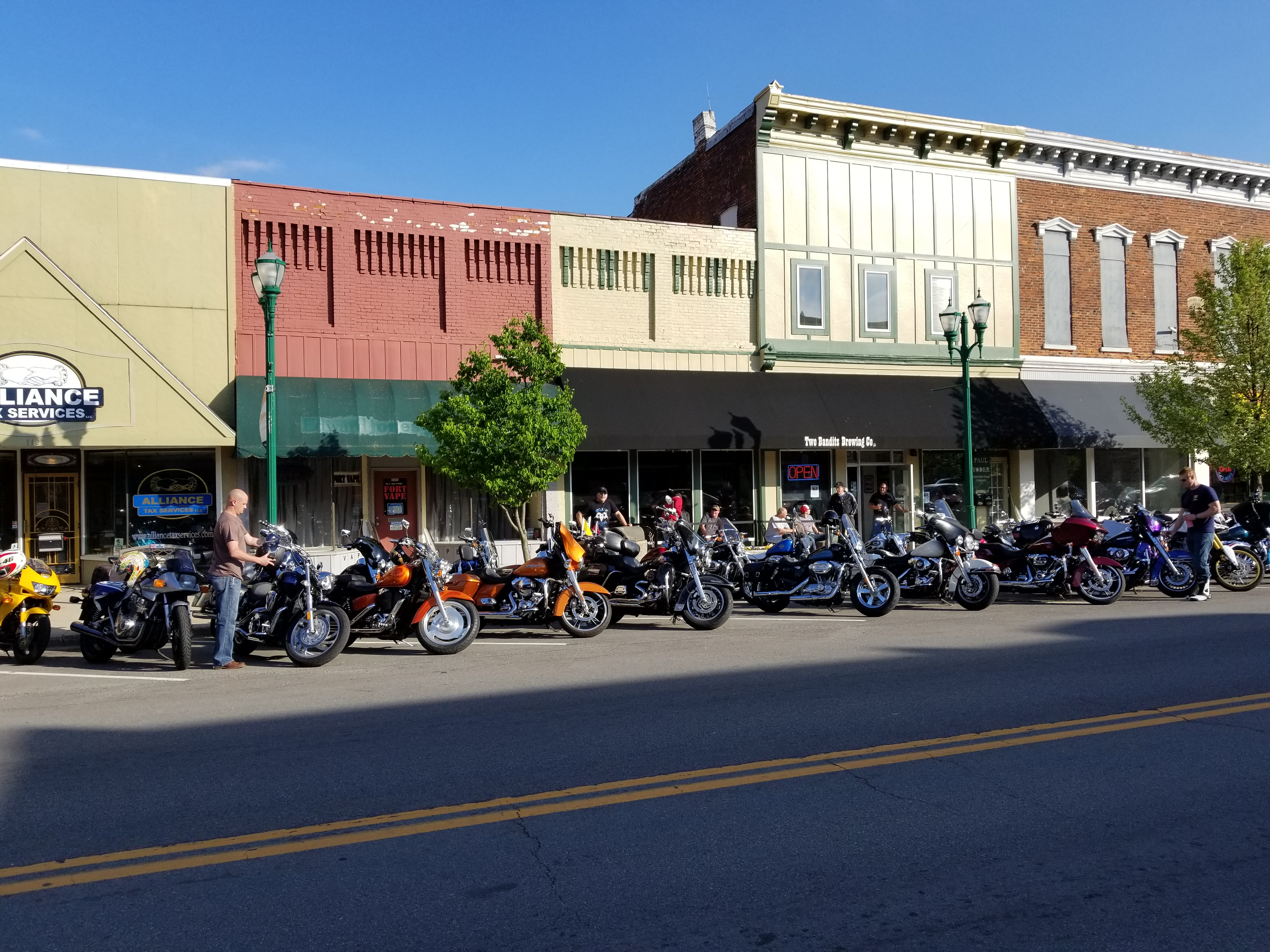 Bikes in front of Two Bandits